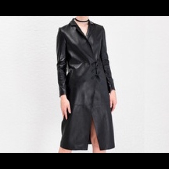 select for authentic promo code official Ladies Full Length Leather Coat NWT